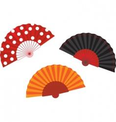 set Spanish fan illustration vector image