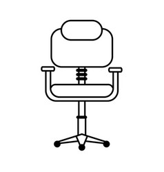 Chair office silhouette vector