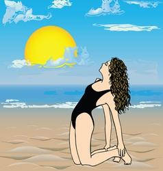 Girl on the beach- vector