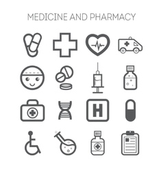 Set of simple medical icons vector