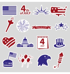 American independence day celebration stickes set vector