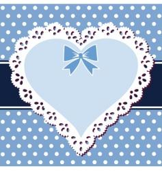 vintage heart frame vector image