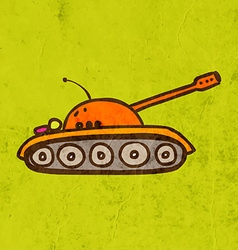 Army tank cartoon vector