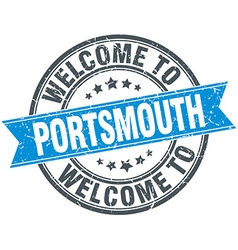 Welcome to portsmouth blue round vintage stamp vector