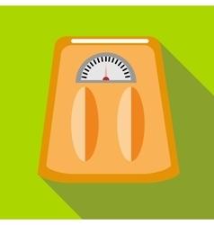 Orange floor scales icon in flat style vector