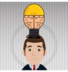 Man with ideas isolated icon design vector