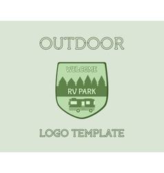 Adventure Outdoor Tourism Travel Logo Vintage vector image vector image