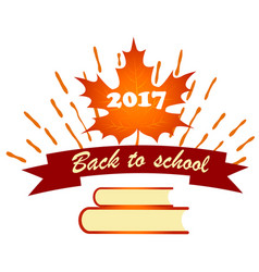 back to school background with text vector image