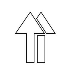 Black silhouette of packaging symbol handling vector