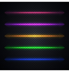 Bright light effects vector image