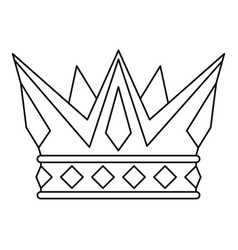Cog crown icon outline style vector