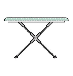 colored crayon silhouette of ironing board vector image
