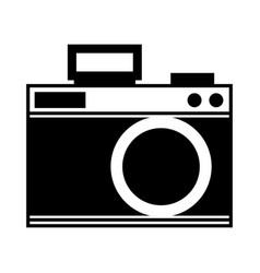 Cute black icon camera cartoon vector