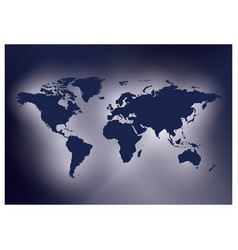 Dark violet background with map of the world vector