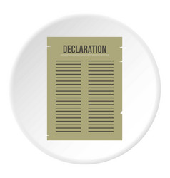 Declaration of independence icon circle vector