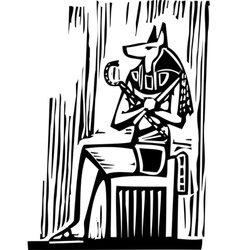 Egyptian Sitting Anubis vector image vector image