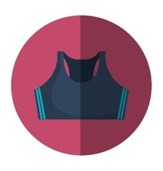 female sport clothes icon vector image vector image