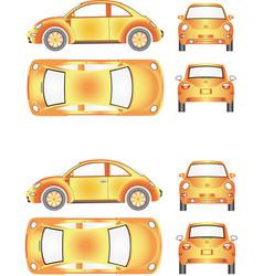 futuristic mini car vector image vector image