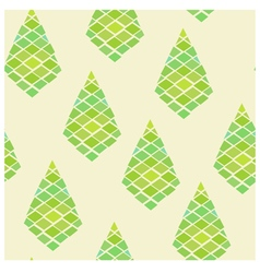 Green geometric abstract seamless pattern vector image vector image