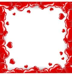 Heart frame over white vector