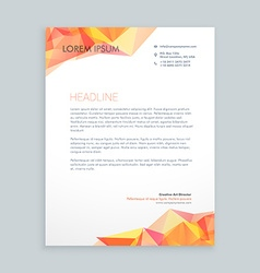 Modern business letterhead vector