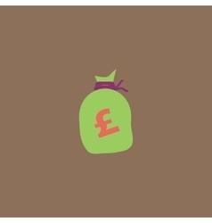 Money bag icon Pound GBP vector image vector image