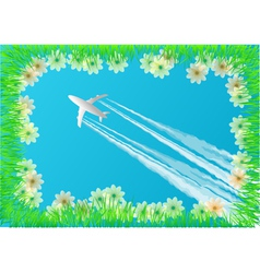 plane in the sky vector image vector image