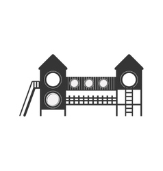 Playground with with halls and stairs vector