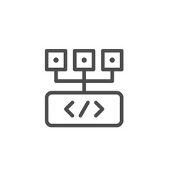 programming line icon vector image