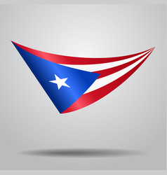 Puerto rican flag background vector