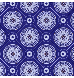 seamlessly blue floral pattern vector image
