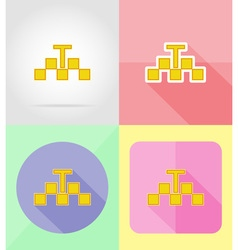 Service flat icons 31 vector