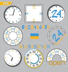 time limit deadline countdown flat design style vector image