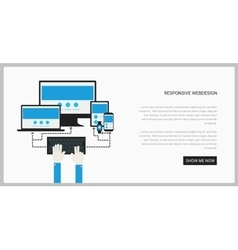 Trendy responsive webdesign technology page design vector