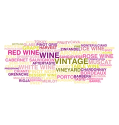 Types of wine vector image