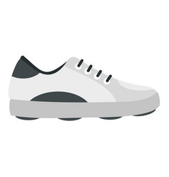 White golf shoe icon isolated vector