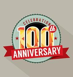 100th years anniversary celebration design vector
