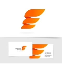 Abstract wing logo template design isolated vector
