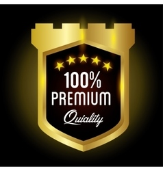 Seal guaranteed premium quality gold vector