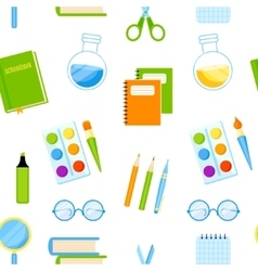 School supplies seamless pattern vector