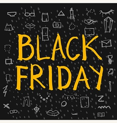 Black friday lettering colour vector
