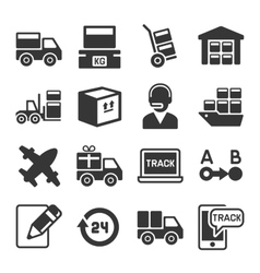 Shipping logistic and delivery icons set vector