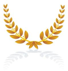 icon olive wreath vector image