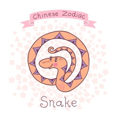 Chinese zodiac - snake vector