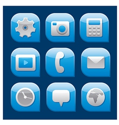 mobile interface icon set vector image