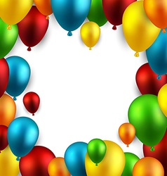 Celebrate frame background with balloons vector