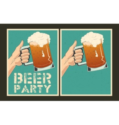 Beer party posters vector