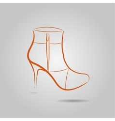 Image of a graceful female boots on the vector