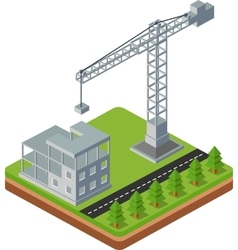 Construction cranes vector