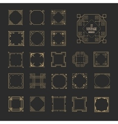 Decorative retro vintage frames and borders set vector image